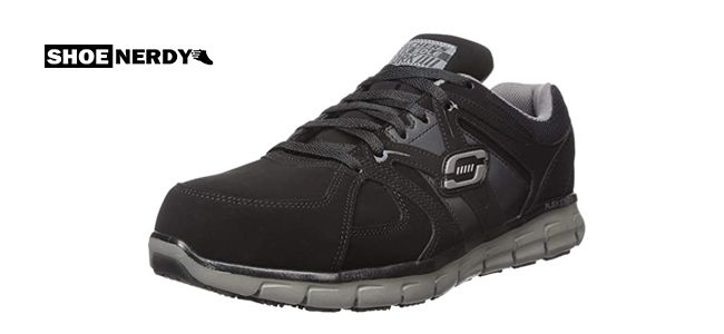Skechers for Work Mens Synergy Ekron Toe Work Shoe
